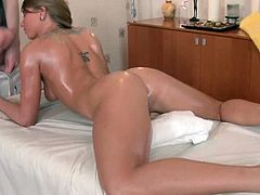 Nude massage porn with mouthful for filthy blonde