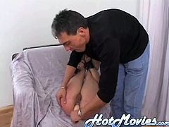 Careful not to spill anything, this obedient wife, knows what coming if she gets him riled. And soon as she pours the soda, he places her over his knee and smacks her ass. Her bottom turns red and is there no relief from this pain?