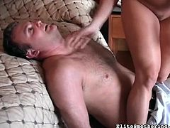 Hot blonde loves making her guy obeying her desires during nasty femdom porn session
