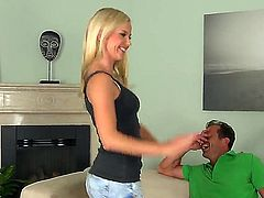 Blonde Bella Baby just loves to blow and cant say No to hard cocked guy George Uhl