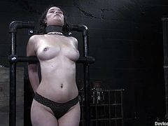 Make sure you watch this bondage video where the kinky Charlotte Vale is tortured while you take a look at her hot body.