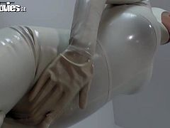 These trashy bitches wearing white color latex costumes are looking freaky. They also act like total freaks. Check out this video produced by Fun Movies.