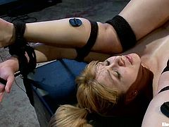 It just doesn't get wilder than this, as we have two blondes, a submissive and a dominant one, having some really kinky fun together.