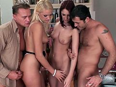 These mouth watering hotties with slim bodies are the best of the best when it comes to pleasing men and they show some serious skills in cock riding. Dude, this wild sex scene will make your cock hard in your pants!