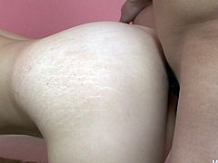 Before being fucked doggy horn-mad Noriko Kago sucks two dicks during MMF session