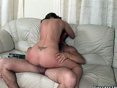 Some slut gets her tight asshole fucked and then the dude pulls out and she sucks on that cock-flavored thing. Check it out right here!
