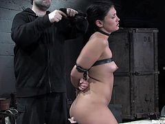 Get a load of this kinky Latina's amazing body in this bondage video where she's put through pain and pleasure at the same time, all against her will.