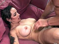 Mature and experienced lady with accurate hairy pussy Mistress Elisa takes a cock