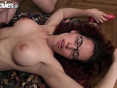 She is slim girl with red color hair. She wears nothing but white stockings in a filthy porn clip presented by Fun Movies. Watch her sucking dick deepthroat wankerbating with dildo meanwhile.