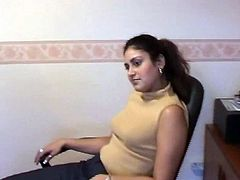 Lisa is blond MILF who produces porn clips. She interviews Indian girl for a kinky action on cam. The latter agrees to strip on cam. Check her out in Indian Sex Lounge clip.