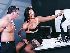 Kiara Mia with phat ass loses control after John Strong pops out his love wand to screw her snatch