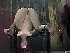 Passionate Trinity Post gets undressed and tied up. Later on she sucks big black cock and gets fucked in the ass.