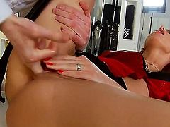 Brunette Lyen Parker is full of passion to take hard dick in her bum
