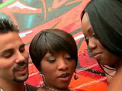 Voodoo bangs Piercings Imani Rose in her mouth as hard as possible in steamy oral action