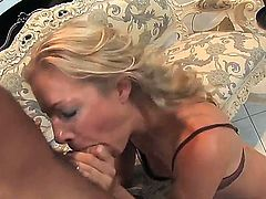 Luxury blonde milf Linda Molnar fuckign with her lover while her husband is away