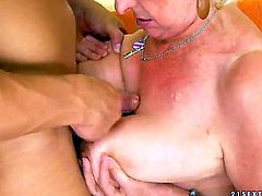 Blonde is good on her way to satisfy her hard cocked fuck buddy in hardcore action