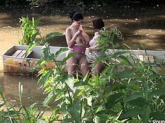 Spend unforgettable time watching how two stunning hotties with well-matured boobs are having lesbian fun with each other. This wild lesbian scene will make you cum and dribble all over your keyboard.