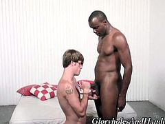 See how Chase evans and Justin Blayde set a hot gay masturbation party. Watch the horny black stud and the kinky blonde guy playing with their hard rods of meat.