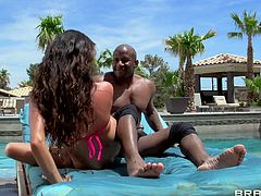 Colombian mom Ariella loves some outdoor action. She's enjoying a beautiful sunny day and a big black cock. The bitch is drilled hard and roughly by the dude and enjoys every inch of hard penis he has to offer. Look at her going on top and ridding the guy. Her boobs bounce and ask for semen!