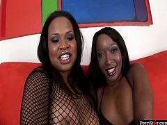 Don't be a dull one and press play to enjoy this Pornstar sex clip. Zealous ebony gals with sweet boobs and big asses are naked. While one lies with her legs stretched wide the other gal eats her juicy pussy passionately causing loud moans of delight.