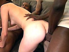 Angelica Black gets surrounded by huge hard and black boys who will tear her ass apart