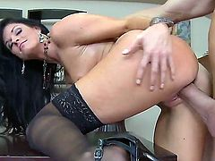 Billy Glide pulls out his meat stick to fuck India Summer