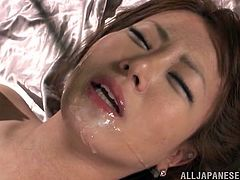 Sexy Japanese girl gets tied up by two guys in the prison. She gets her pussy fucked hard and deep. After that she gets her body covered with hot wax.