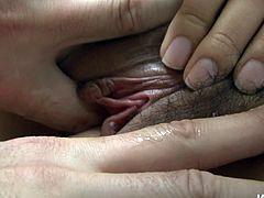 Slender Japanese babe gets her unused soaking pussy fingered intensively