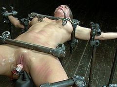 Check out this hot bdsm scene packed with fucking perversion and lust as this chick enjoys every last minute of that delicious punishment!