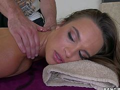 Beautiful Teal Conrad loves relaxing massage