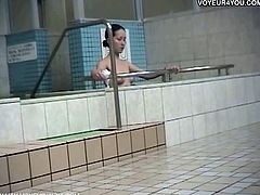 Japanese bathroom was equiped with hidden cam to show ladies going naked and showering their bodies with big natural tits and tight pussies!