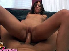 Hot Amber Rayne rides big dick in anal POV video