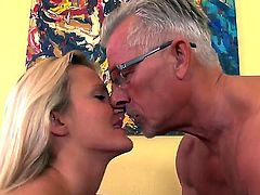 Arresting blonde girlfriend Andrea Francis has sweet time with mature man Christoph Clark