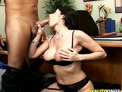 Gorgeous Eva Karera gets fucked rough in an office