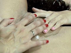 Indian Sex Lounge XXX clip presents a really voracious and hot brunettes. Ardent nympho get rid of sexy dresses and take a dildo for polishing each other's wet juicy pussies for multiple orgasm. Slim gals with sweet tits are hot like hell.