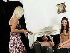 Dane Cross gets turned on by Kasey Storm and then fucks her mouth