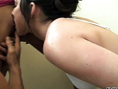 Johnny Sins has a great time banging Jennifer White in the butt before she gives blowjob