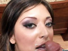 Audrianna Angel does dirty things and then gets her lovely face dreamed in jizz