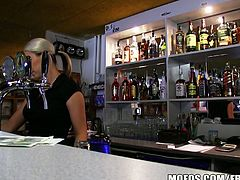 Super hot bar-wench lenka is fucked hard for cash