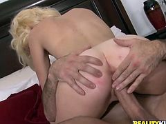 Sexy Lacey Leveah gets pounded in a bedroom and gets facialed