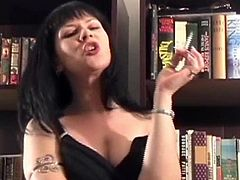 Super hot euro milf mina is wearing a sexy dress and is about to smoke a cigarette! She smokes it slowly so she can receive a full pleasure!