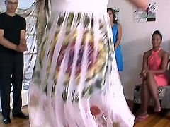 Latin Alexis Breeze with round bottom gives Sativa Roses slit a try in lesbian action