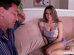 Beautiful brown-haired chick Rachel RoXXX spreads her legs wide and allows her man to eat her vag. Then she jumps on his schlong and enjoys doggy style banging afterwards.
