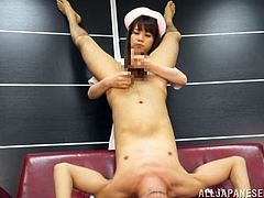 She is a master of handjobs and babe makes this dude stun, as the way she rubs and tugs him is so divine. Japanese nurses can be so filthy!