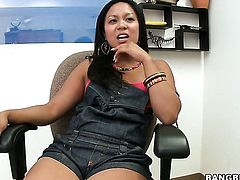 Tasha Lynn knows that sturdy fuck stick in hnad is the only thing that can make her feel better