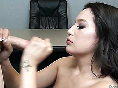 Linda Lay gets her throat attacked by guys rock solid tool