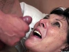 Mature rimjob excites him for hardcore fucking