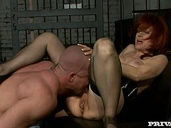 This is something in between two generations. But age never worried Nina Stein and she gets on that cock with some pleasure!