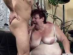 With a lot of love to give the big beautiful woman Alma opens her slutty mouth and greets this guy's hard cock. She swallows his dick with passion and only a big load of warm semen will quench her thirst for his dick. Watch her being fed with cock and how maybe she will receive her well deserve spunk