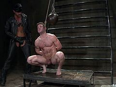 Have a look at this gay bondage video where a muscular stud's tortured and fucked by her horny master after being in pain.
